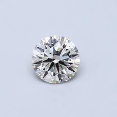 0.35-Carat Round Diamond Ideal K VVS2