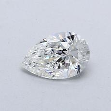 0.50-Carat Pear Diamond Very Good F VVS2