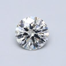 0.53 Carat 圆形 Diamond 理想 J SI1
