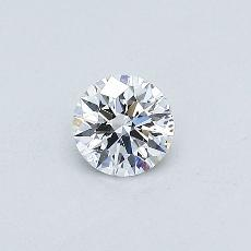0.31-Carat Round Diamond Ideal D SI2