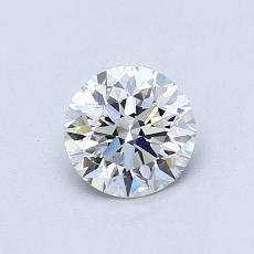 0,70-Carat Round Diamond Ideal D VS2