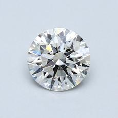 0.71-Carat Round Diamond Ideal I VS1