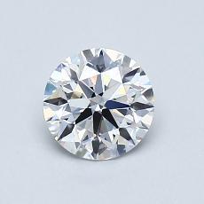 0,70-Carat Round Diamond Ideal D VS1
