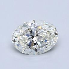 0.91-Carat Oval Diamond Very Good J VS2