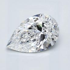 1.01 Carat Pera Diamond Muy buena D VVS1