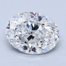推薦鑽石 #2: 3.01 克拉橢圓形切割鑽石