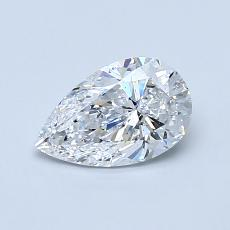 0.70-Carat Pear Diamond Very Good D SI2