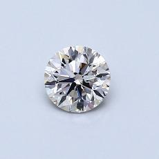 Piedra recomendada 3: Diamante redondo de0,38 quilates