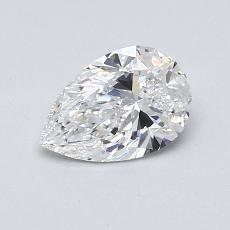 0.76 Carat 梨形 Diamond 非常好 E VVS1