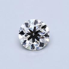 0.50-Carat Round Diamond Good I SI1