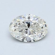 0.90-Carat Oval Diamond Very Good I SI1