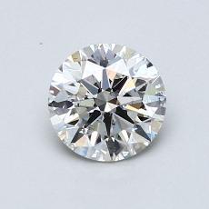 0.76 Carat 圓形 Diamond 理想 G SI1