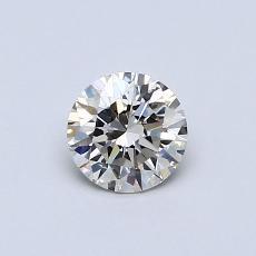 0.42-Carat Round Diamond Ideal J VVS1