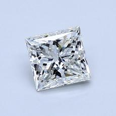 0,92-Carat Princess Diamond Very Good H VS2