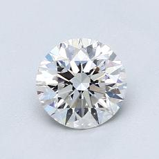 0.90-Carat Round Diamond Ideal F VVS1