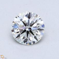 0,90-Carat Round Diamond Ideal H VVS1
