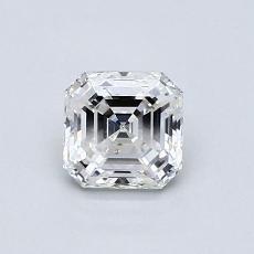 Piedra objetivo: Diamante de talla Asscher de 0.74 quilates