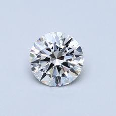 0.50 Carat 圆形 Diamond 理想 I VS1