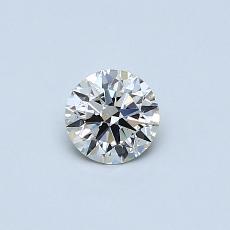 推荐宝石 1:0.33克拉圆形切割钻石