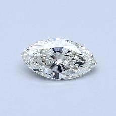 目标宝石:0.40 克拉榄尖形钻石