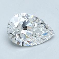 1,01-Carat Pear Diamond Very Good D VVS2