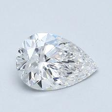 0.72-Carat Pear Diamond Very Good E VVS1