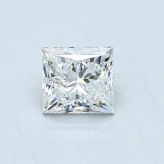 0.50-Carat Princess Diamond Very Good F VVS1
