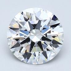 2.07-Carat Round Diamond Ideal F VVS2