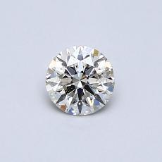 推荐宝石 1:0.39克拉圆形切割钻石