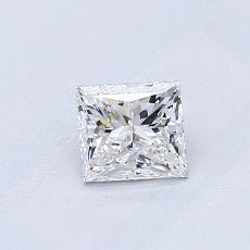 0.54-Carat Princess Diamond Very Good E VS2
