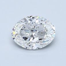1.01-Carat Oval Diamond Very Good F VVS2