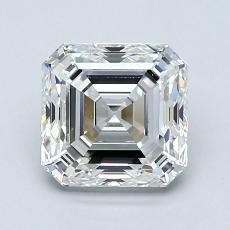 1.56-Carat Asscher Diamond Very Good F VVS1