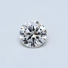 目标宝石:0.31克拉圆形切割钻石