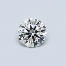 0,40-Carat Round Diamond Good K VS1