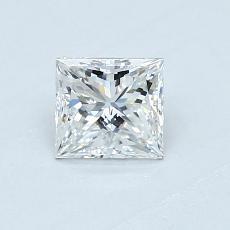 0.55 Carat Princesa Diamond Muy buena E VVS2