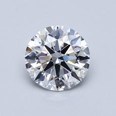 0.81-Carat Round Diamond Ideal D VS1