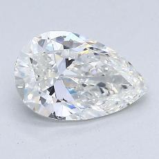 推薦鑽石 #3: 1.15 克拉梨形鑽石