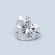 Pierre recommandée n°2: Diamant taille cœur 0,42carat