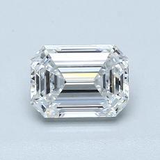 1.03-Carat Emerald Diamond Very Good D VVS2