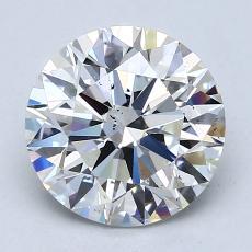 2.02 Carat 圆形 Diamond 理想 F SI1