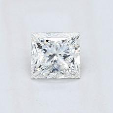 推荐宝石 3:0.63 克拉公主方形钻石