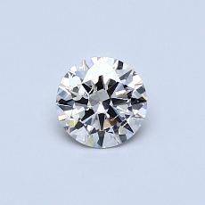 0.40 Carat 圆形 Diamond 理想 J SI2