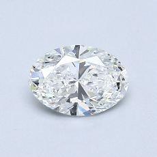 Pierre recommandée n°2: Diamant ovale 0,54 carat