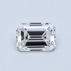 0.72-Carat Emerald Diamond Very Good D VVS1