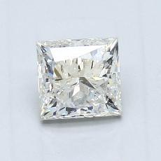 0.91 Carat 公主方形 Diamond 良好 J SI2