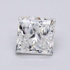 Pierre recommandée n°1: Diamant taille princesse 1,50 carat