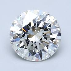 2.01-Carat Round Diamond Ideal I VVS2