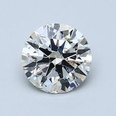 1.00-Carat Round Diamond Ideal K SI2