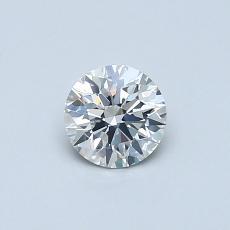 0,41 Carat Rond Diamond Idéale I SI2