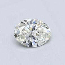 0,50 Carat Ovale Diamond Très bonne I VS2